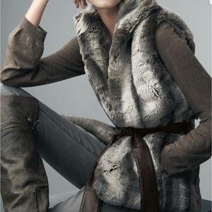 Kirsten Blake Size Small Faux Chinchilla Fur Vest